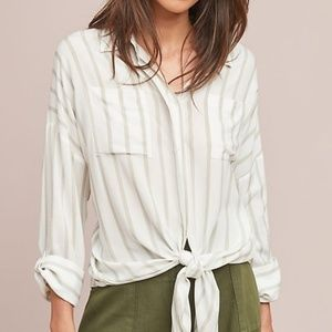 Anthropologie Maeve Sandbridge Button Down Blouse